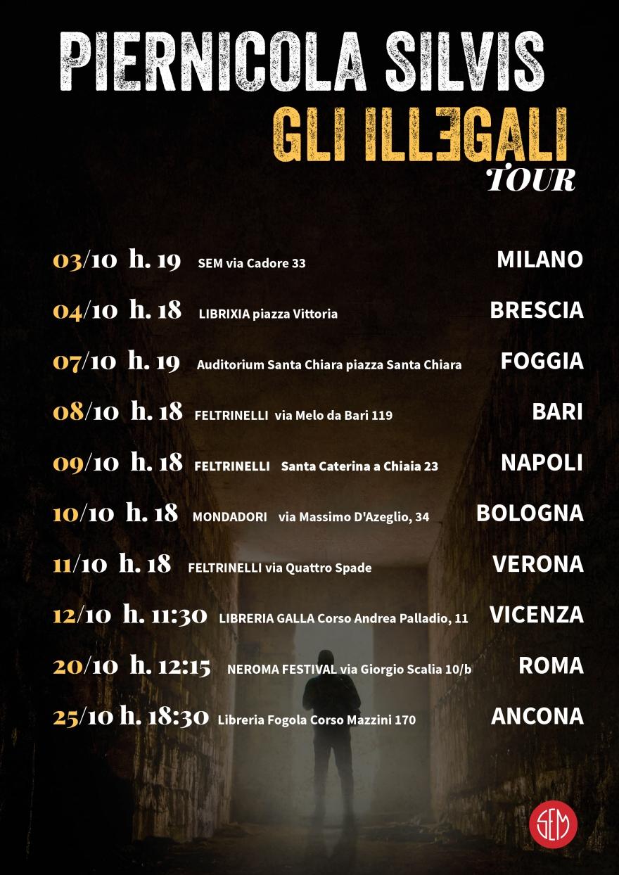 P. Silvis Gli Illegali Tour Italia